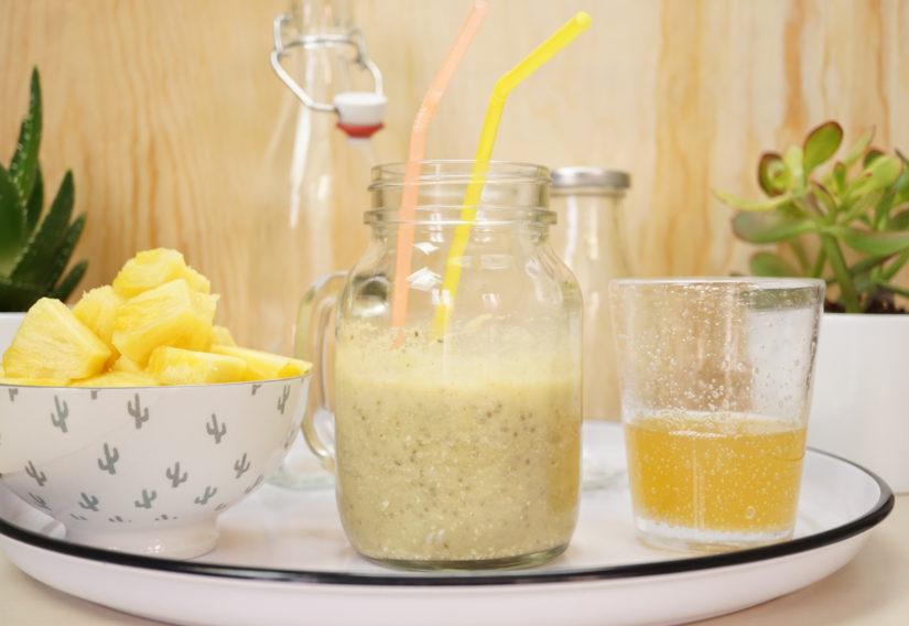 jus healthy 2 cocktail anti calories l 39 ananas et au th vert beaut ch rie. Black Bedroom Furniture Sets. Home Design Ideas