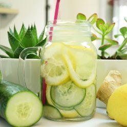 eau fruitée détox maison