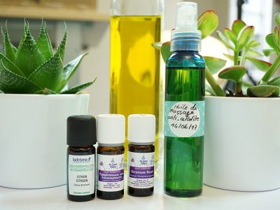 Recette huile de massage anti cellulite
