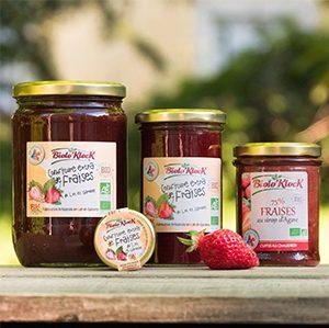 Confiture extra de fraises