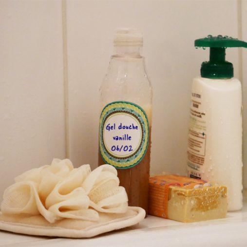 Je réalise mon gel douche parfum vanille