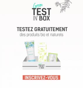 Box échantillons gratuits de cosmétique bio et naturelle