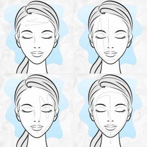 Infographie : Affusion du visage, comment faire ? Shéma