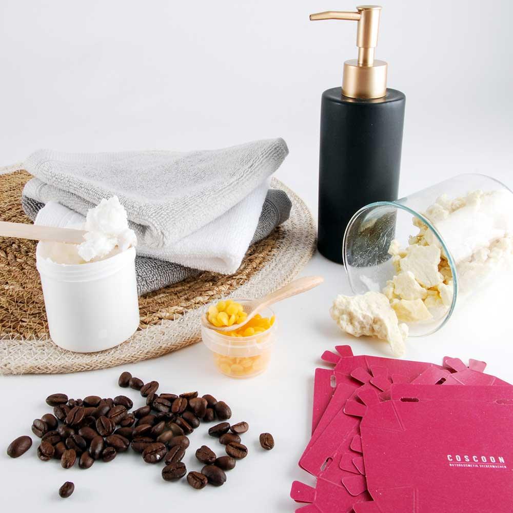 Coscoon, kits de cosmétiques maison à faire soi-même : barres de massage bio