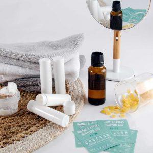 Coscoon, kits de cosmétiques maison à faire soi-même : baume à lèvres